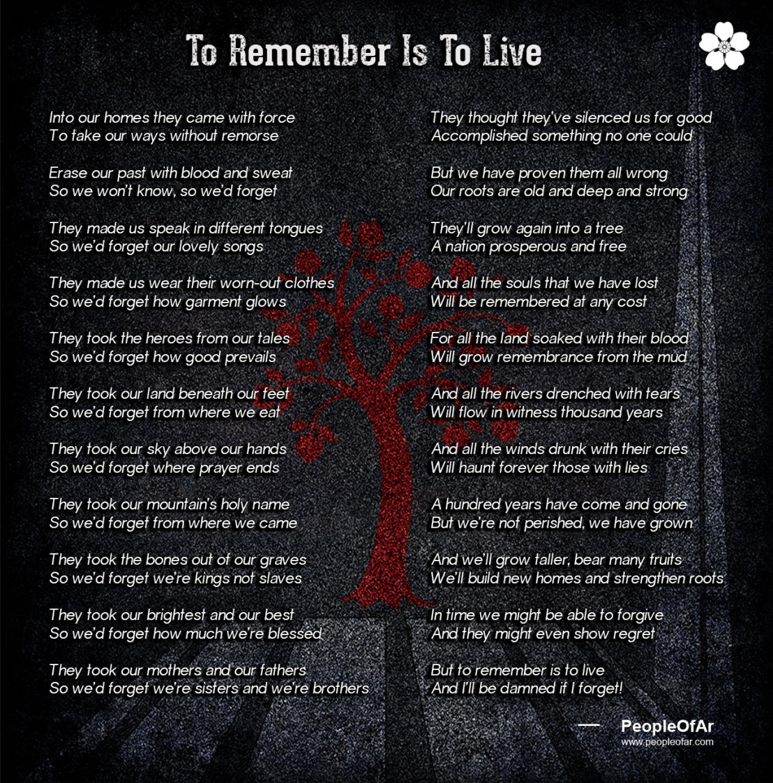 To Remember Is To Live