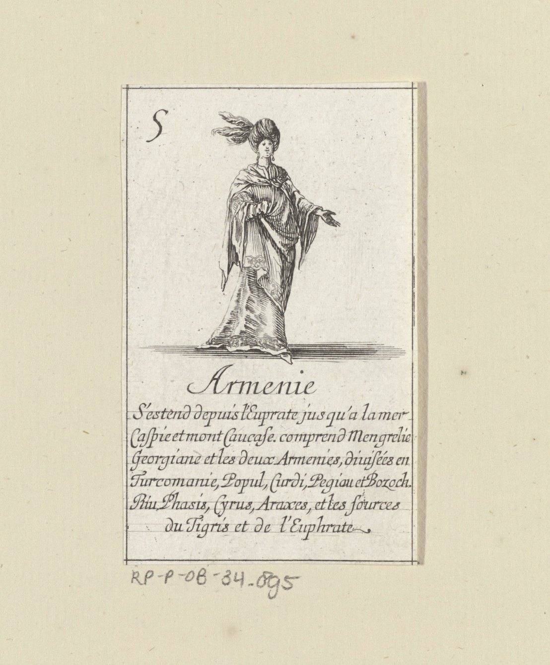 Armenian lady by Stefano della Bella, 1620 - 1664