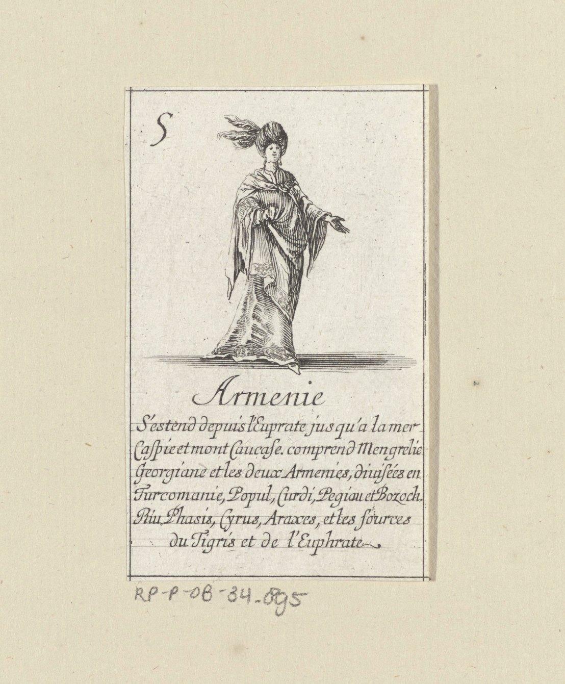 Armenian lady by Stefano della Bella, 1620 - 1664