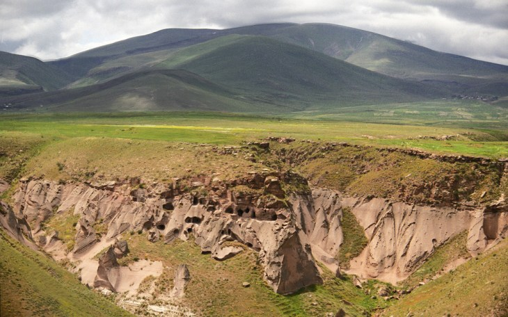 Ancient Armenian cave dwellings of Ani