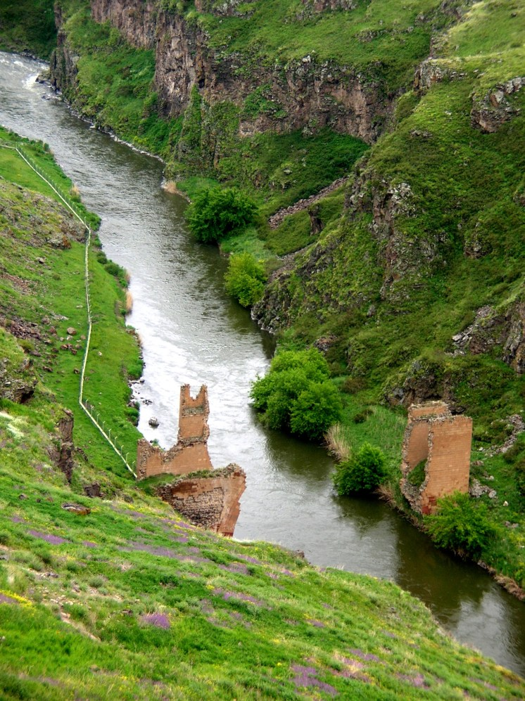 Ani bridge ruin between Turkey and Armenia