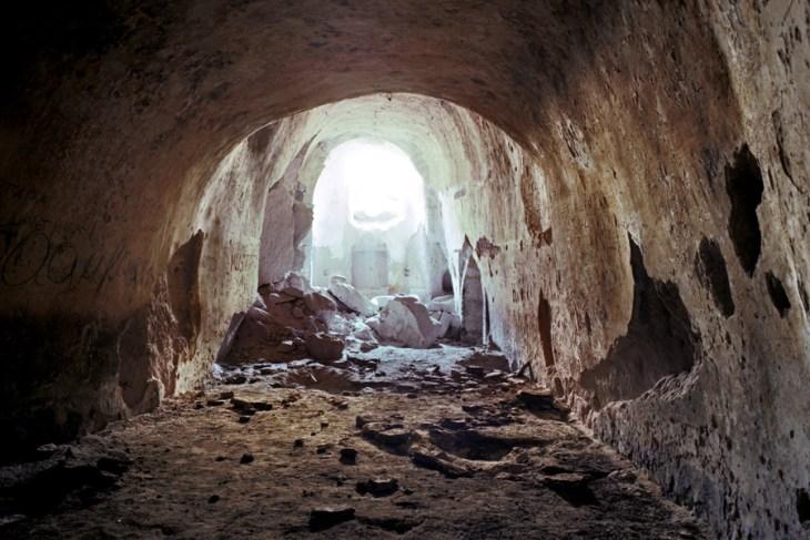 Apse of the rock-cut chapel of the Armenian Monastery, Derevank.