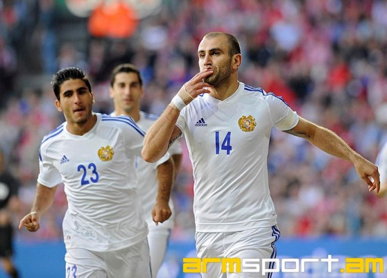 The three Armenians who scored goals during the match Tuesday