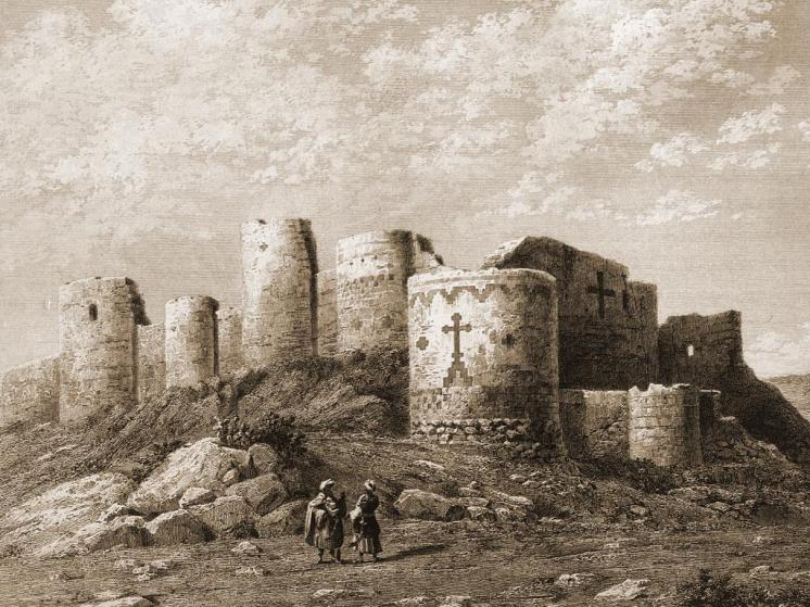 Drawing of Ani, medieval Armenia