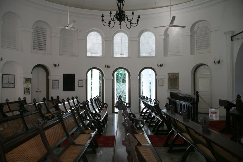 Interior of the Armenian church in Singapore