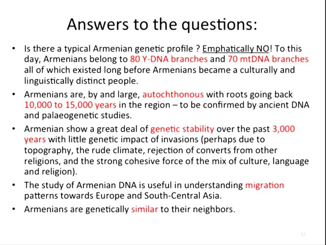 Questions regarding Armenian genetics.