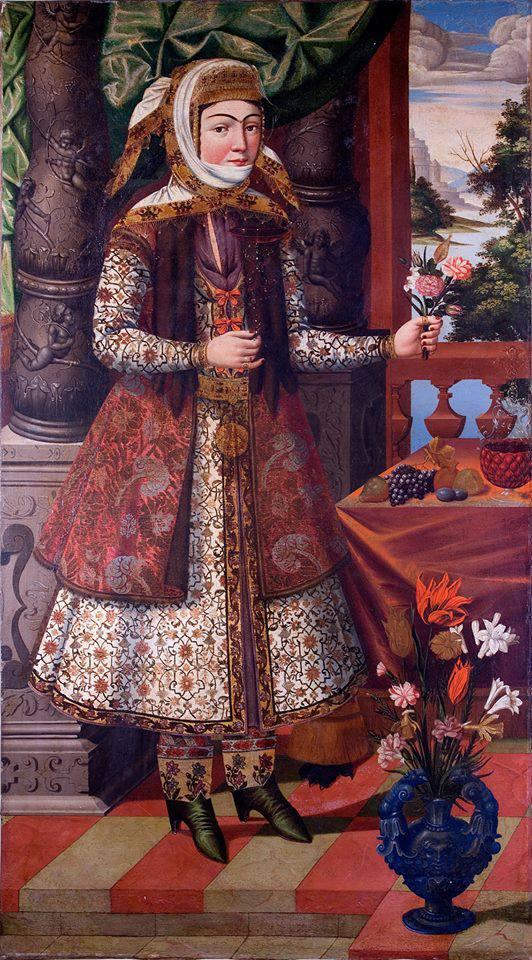 Armenian girl in Iran, late 17th Century  The Museum of Islamic Art, Qatar.