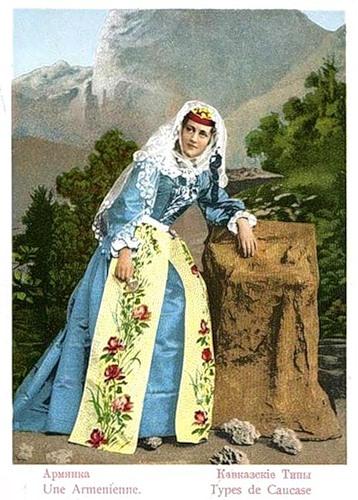Armenian Lady, Caucasian types