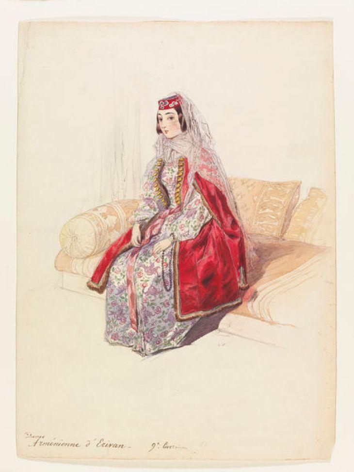 Armenian lady from Yerevan by Gagarin 1842