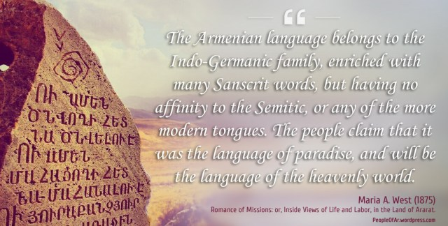 Maria A. West about the Armenian language