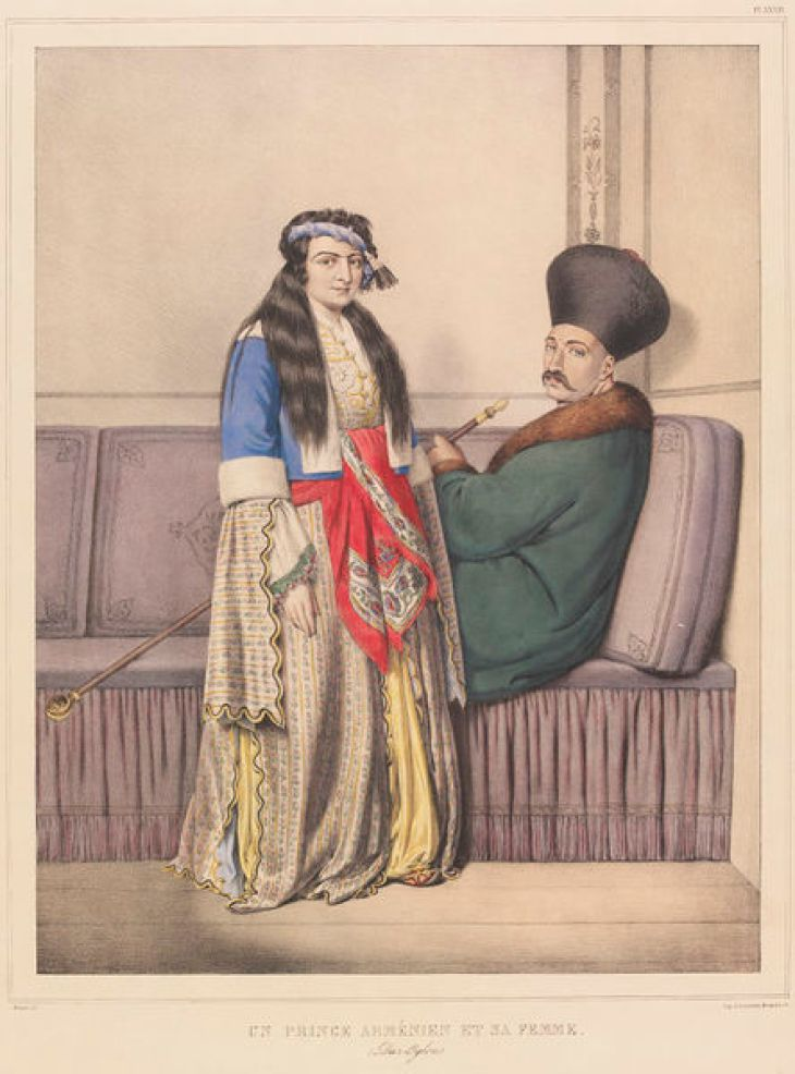 Armenian prince and his wife by Louis Dupré 1825