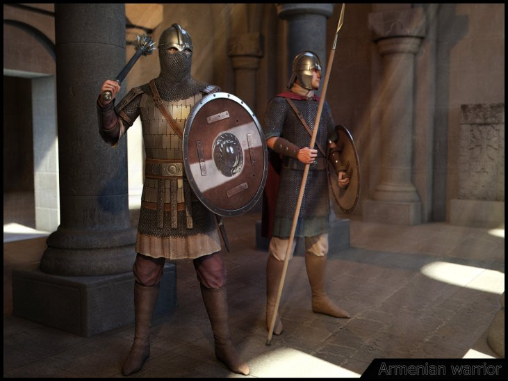 Armenian Warriors 350-500 AD.