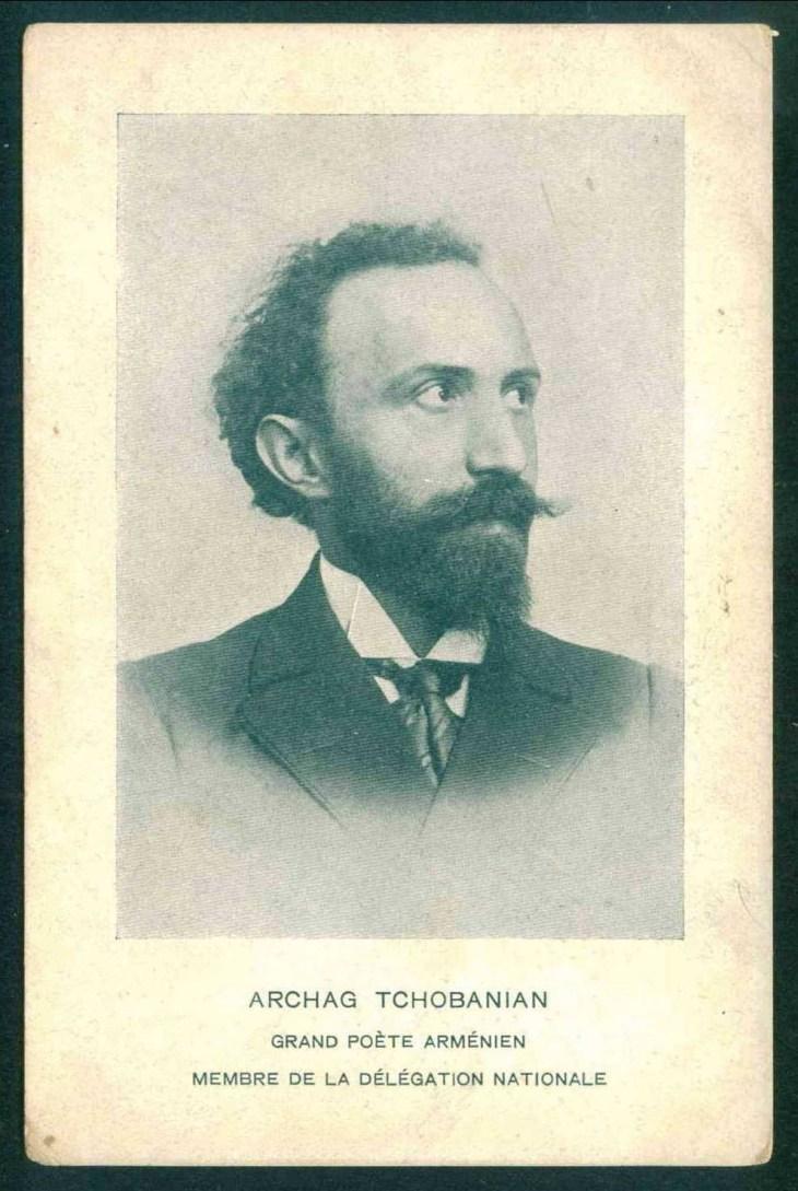 Arshag Tchobanian - Great Armenian poet and writer, member of national delegation