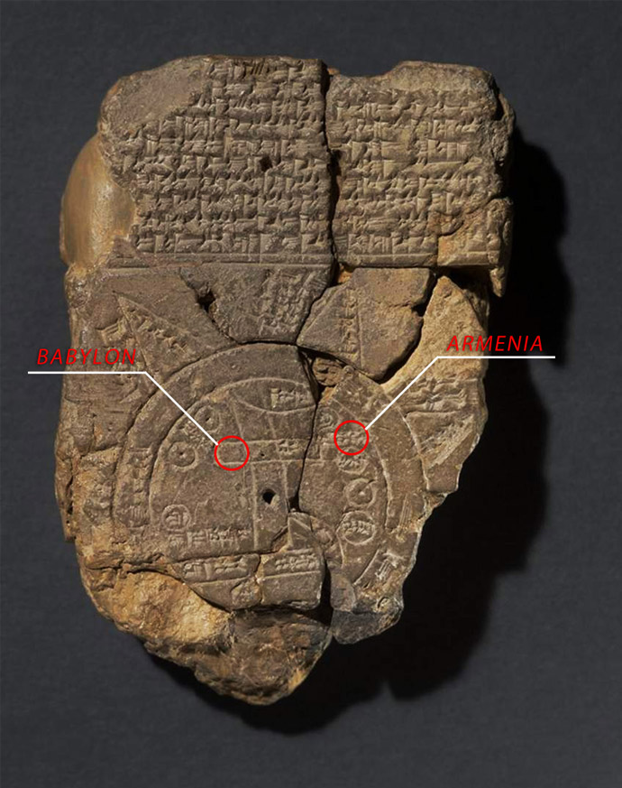 Babylonian map of the world (6th c. BC)