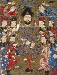 Badr al-Din Lu'lu', manuscript illustration from the Kitāb al-Aghānī of Abu al-Faraj al-Isfahani (Feyzullah Library No. 1566, Istanbul)