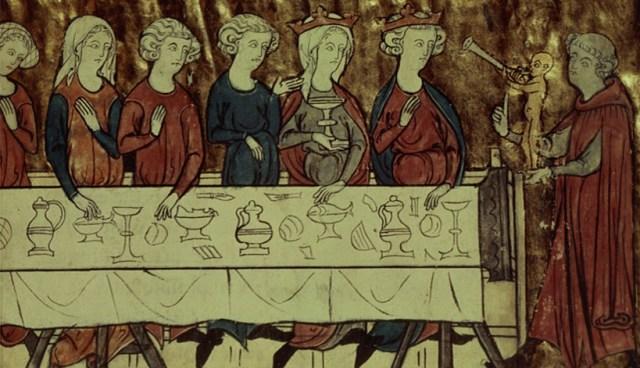 Birthday Feast of Nubien, King of Armenia 13th century AD.