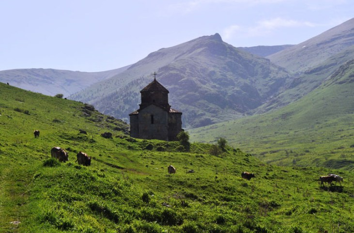 Dorbandavank, St. Astvatsatsin church (VI c.) Stepanavan Armenia