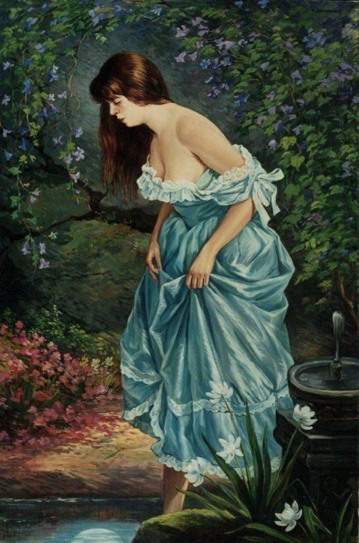 Girl in Blue 2002 by Rubik Kocharian