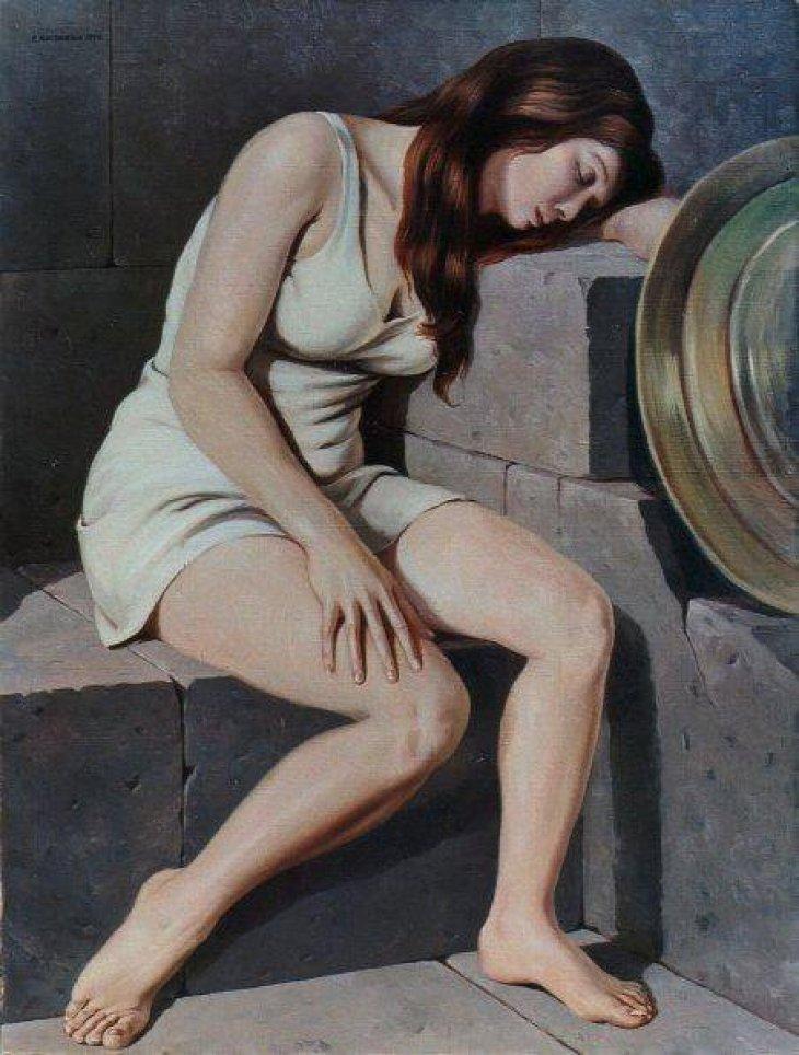 Girl with Shield 2010 by Rubik Kocharian