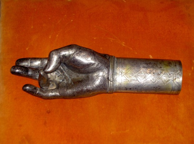 Holy Right arm of God made of Silver and precious stones.