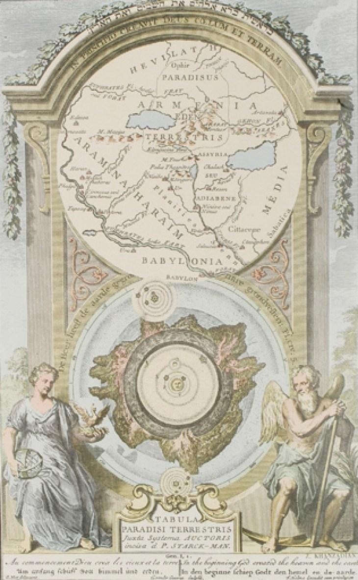 L'Arménie, jardin d'Eden, page de l'Atlas de cartographie historique de l'Arménie, Jacques Khanzadian, copie de carte ancienne, 1675