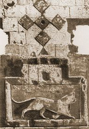Lion on the gates of Ani