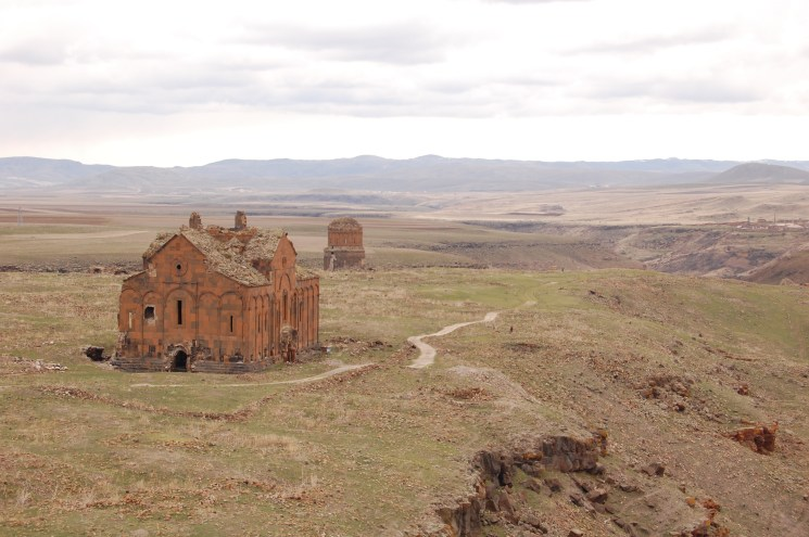 Medieval Armenian Cathedral of Ani view