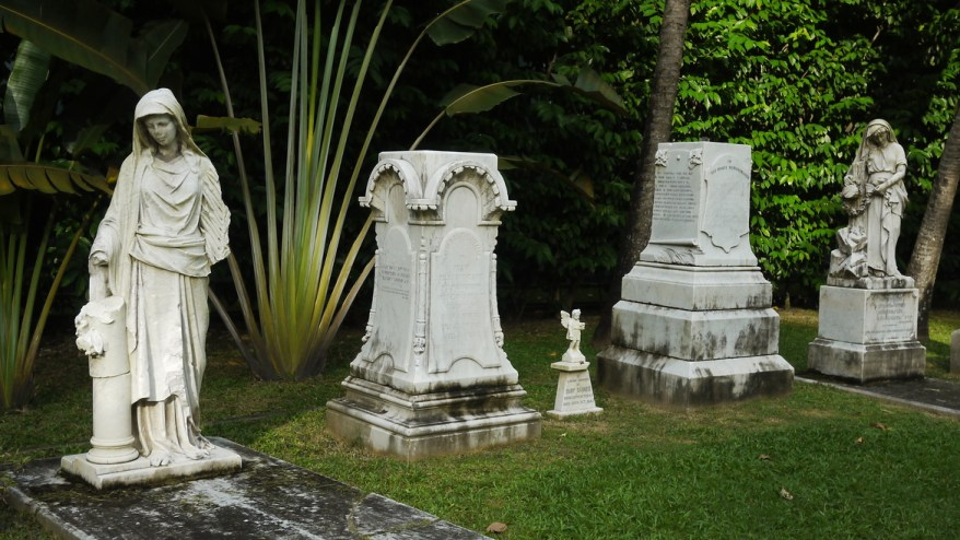 Memorial Garden of the Armenian church in Singapore