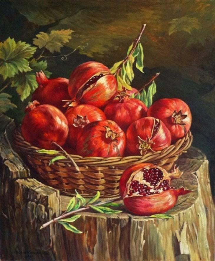 Pomegranates on Tree by Rubik Kocharian