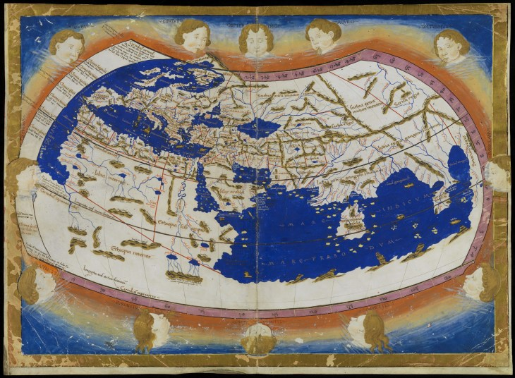 World map according to Ptolemy (2st. c. AD)