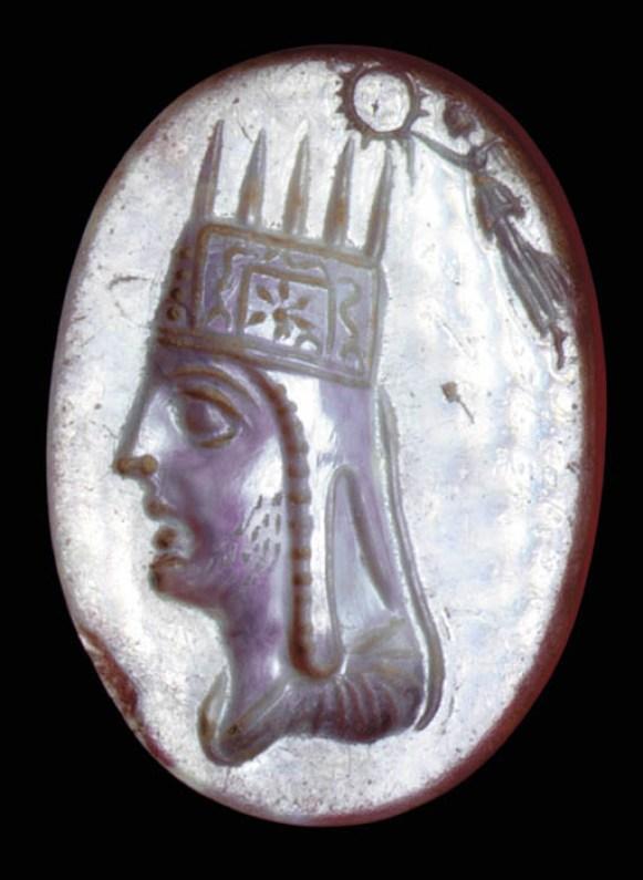 Ringstone portrait of Tigranes II of Armenia (although could also represent Artavasdes II of Armenia), 1st. c. BC