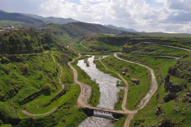 River Dzoraget of Stepanavan