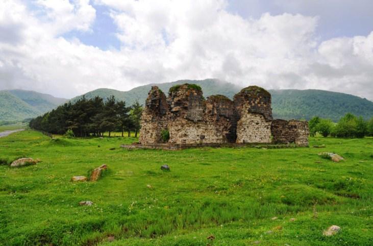 Ruines of Tormak church (4th century) Stepanavan, Armenia