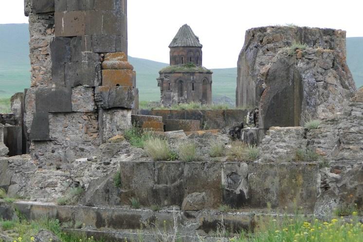Ruins with Church at Rear - Ani (Ancient Armenian Capital) - Near Kars - Turkey