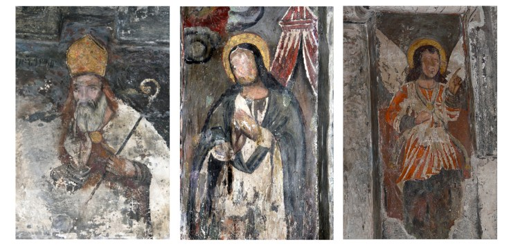 Mural details from the 13th century Armenian monastery.