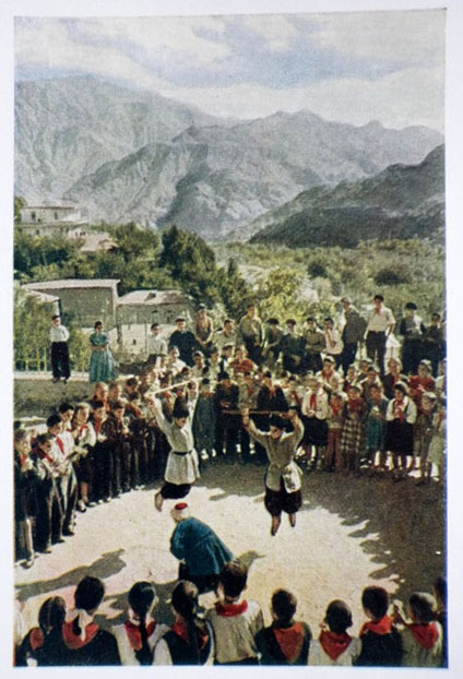 school holiday - dance - pioneers - 1957 - Armenia USSR
