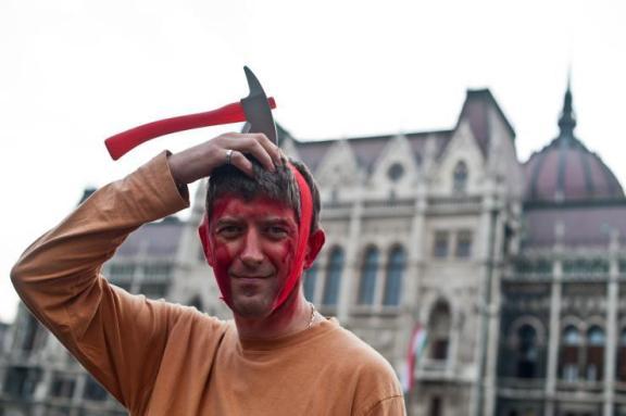Sep 4 Budapest, protest against Safarov extradition