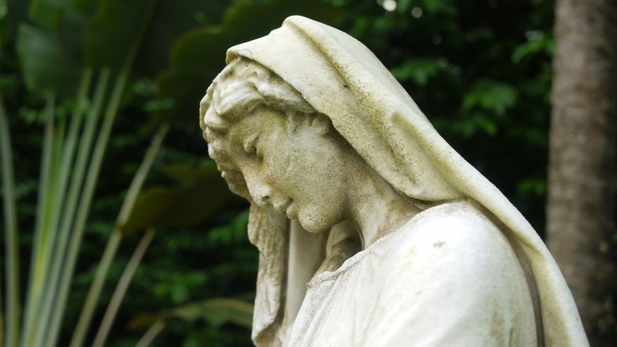 Statue at Armenian Church garden, Singapore