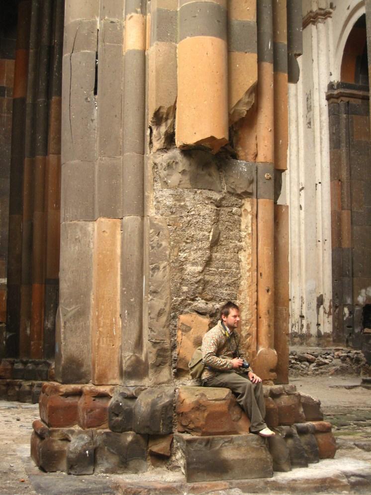 taking pictures in Ani Armenian church