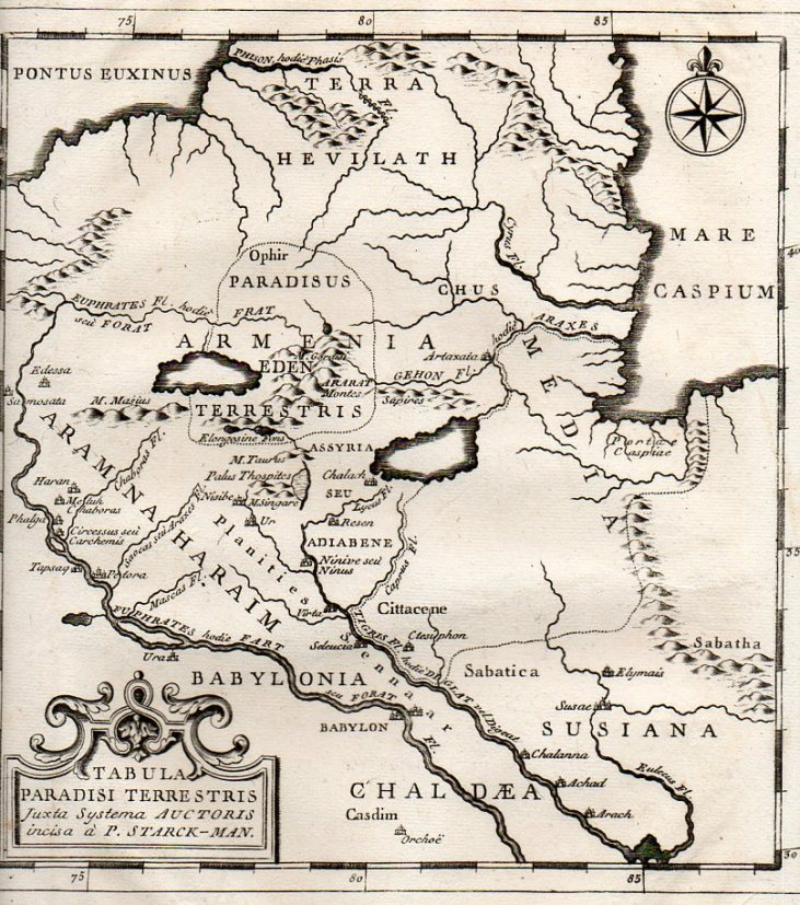 The map Tabula Paradisi Terrestris justa Systema Auctoris incisa a P. Stark-Man was printed late in the 18th century, probably around 1775..