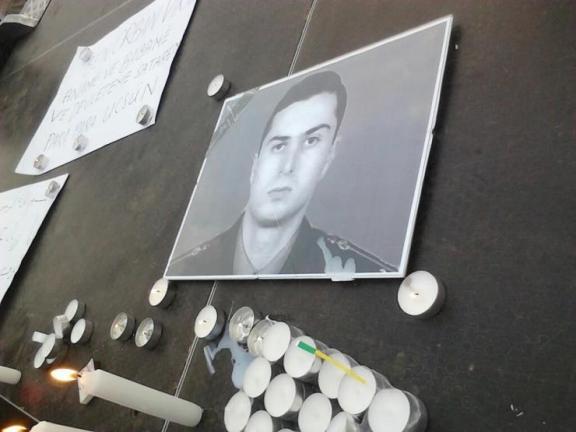 Candles lit in memorial to Gurgen Markarian murdered by an Azeri criminal