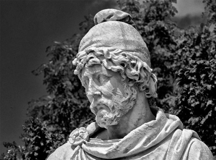 Marble sculpture of Tigranes II (reign: 95-55 BC) in Versailles, France