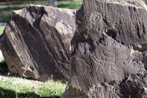 Ughtasar petroglyphs V-II millenium B.C.