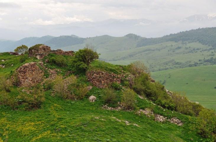 Ruins of Vardablur berd (medieval fortress)Stepanavan Armenia2