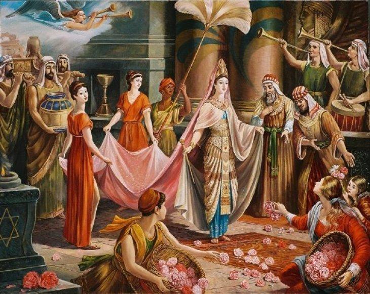 Welcoming Queen Sheba 2004 by Rubik Kocharian