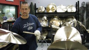 Zildjian makes its cymbals from a secret blend of metals