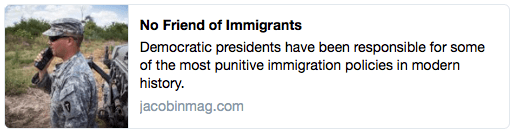 """""""No Friend of Immigrants"""" 