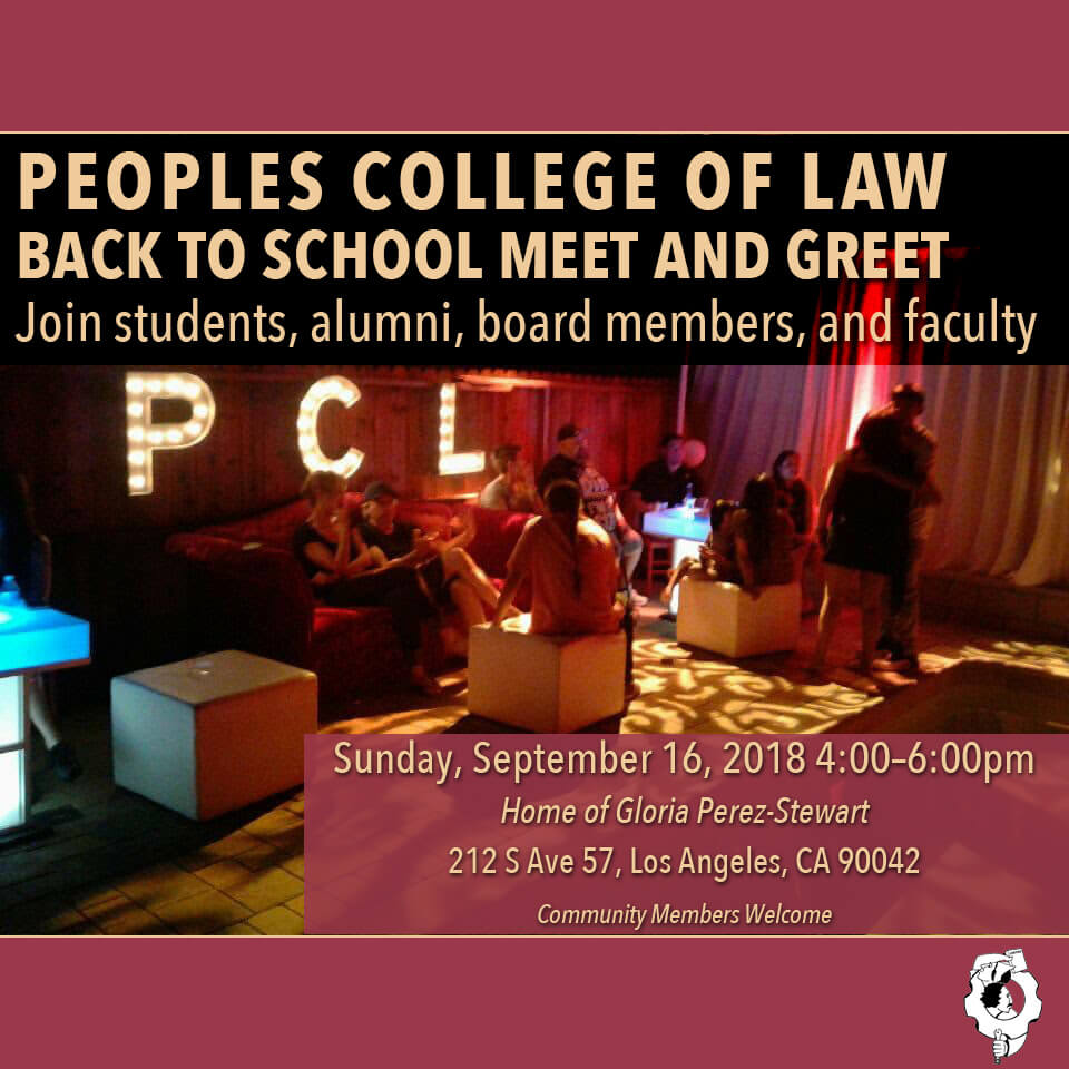 Peoples College Of Law Back To School Meet And Greet Peoples