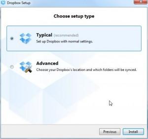 Choose Typical or advanced setup