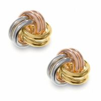 14K Tri-Colour Gold Love Knot Earrings | View All Earrings ...